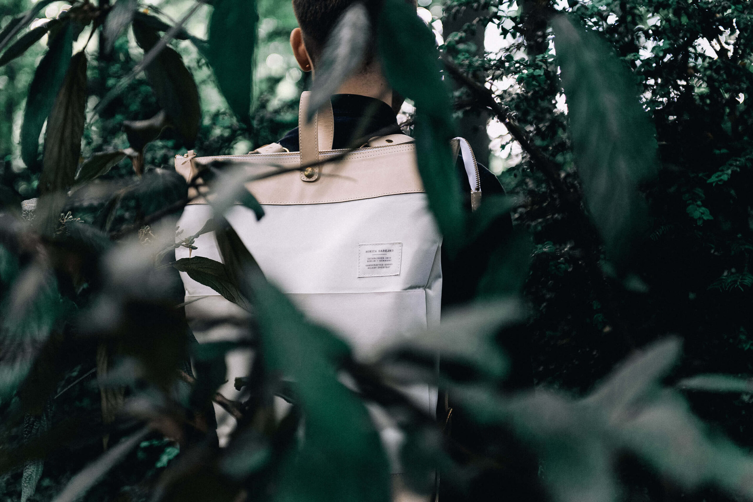Demian backpack editorial image