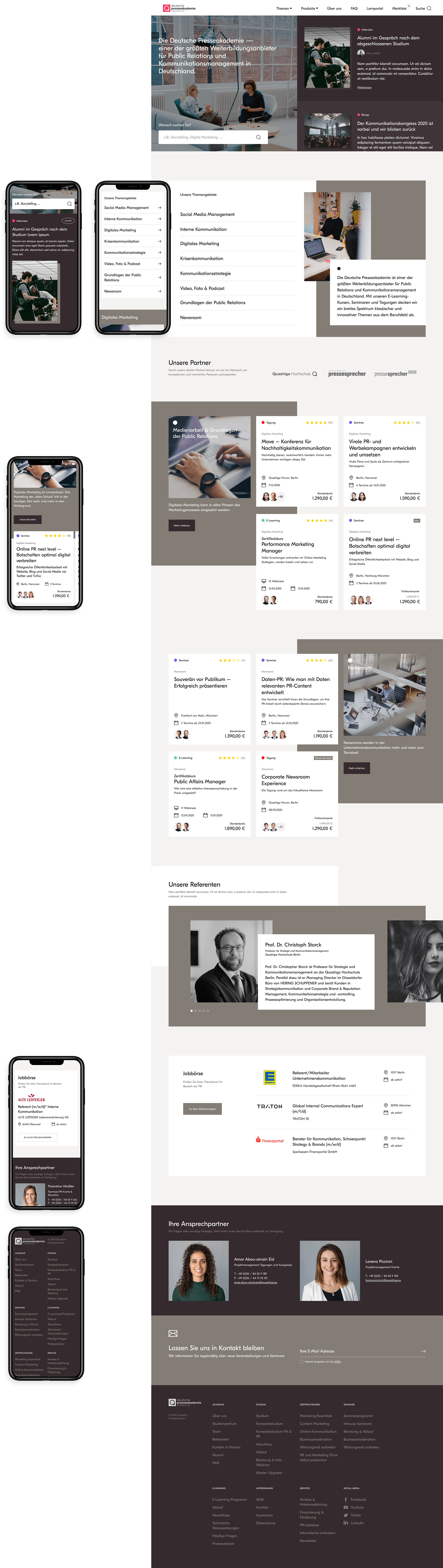 Depak home page full view