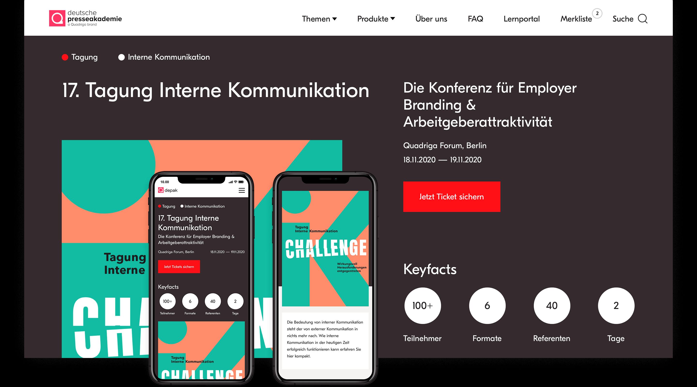 Depak conference page