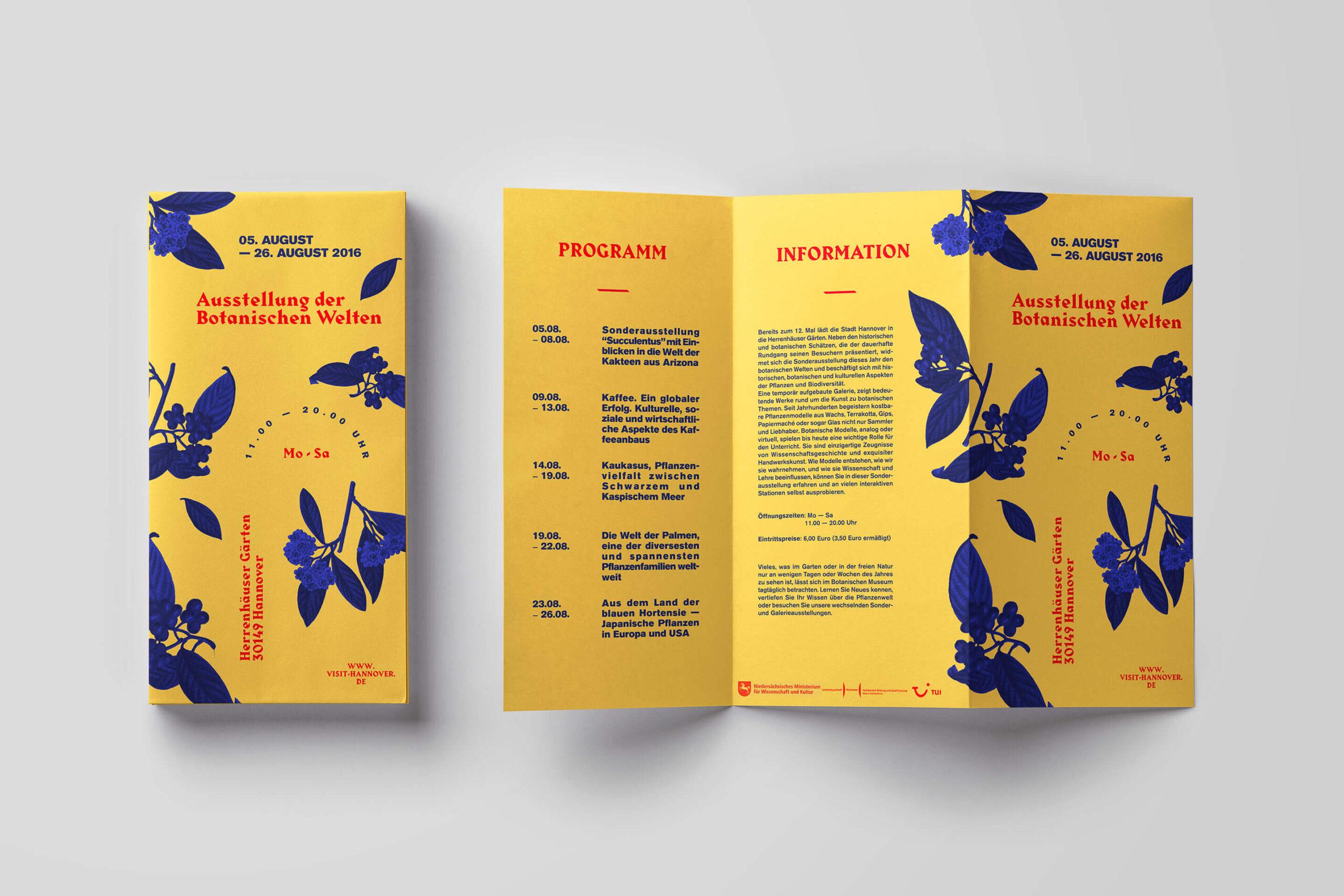 Herrenhäuser Gärten der Welt brochure mockup