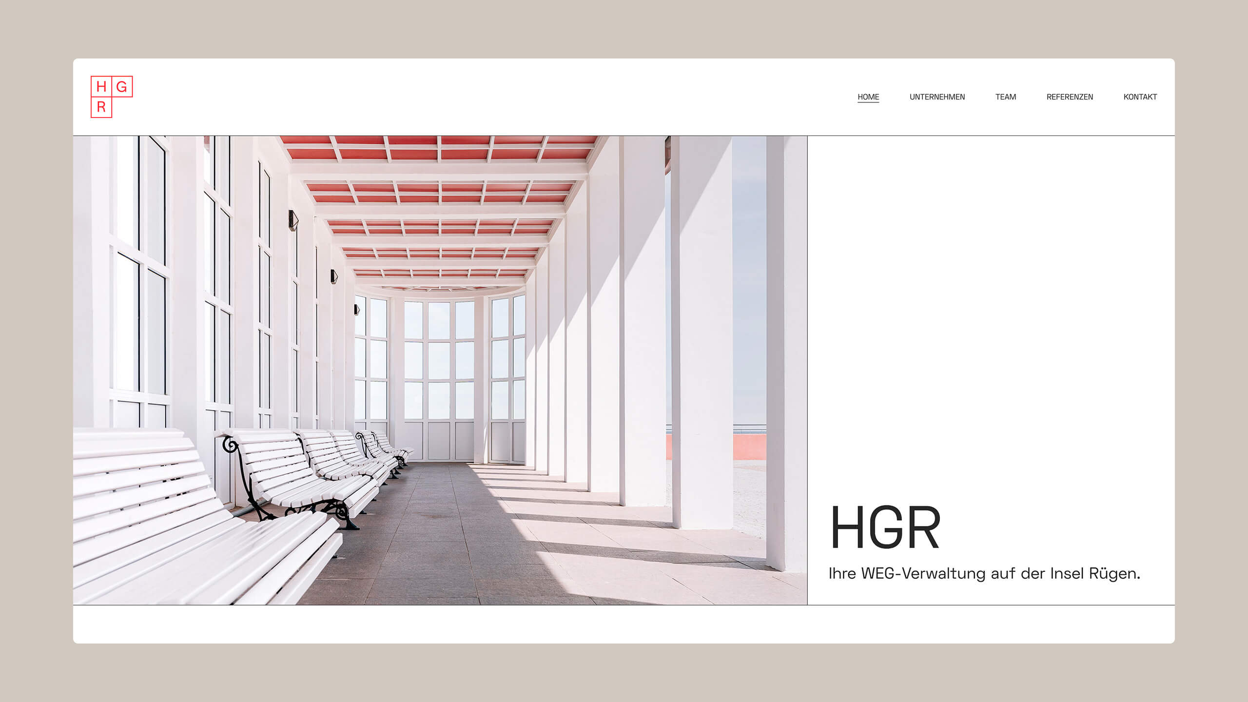 HGR homepage first viewport