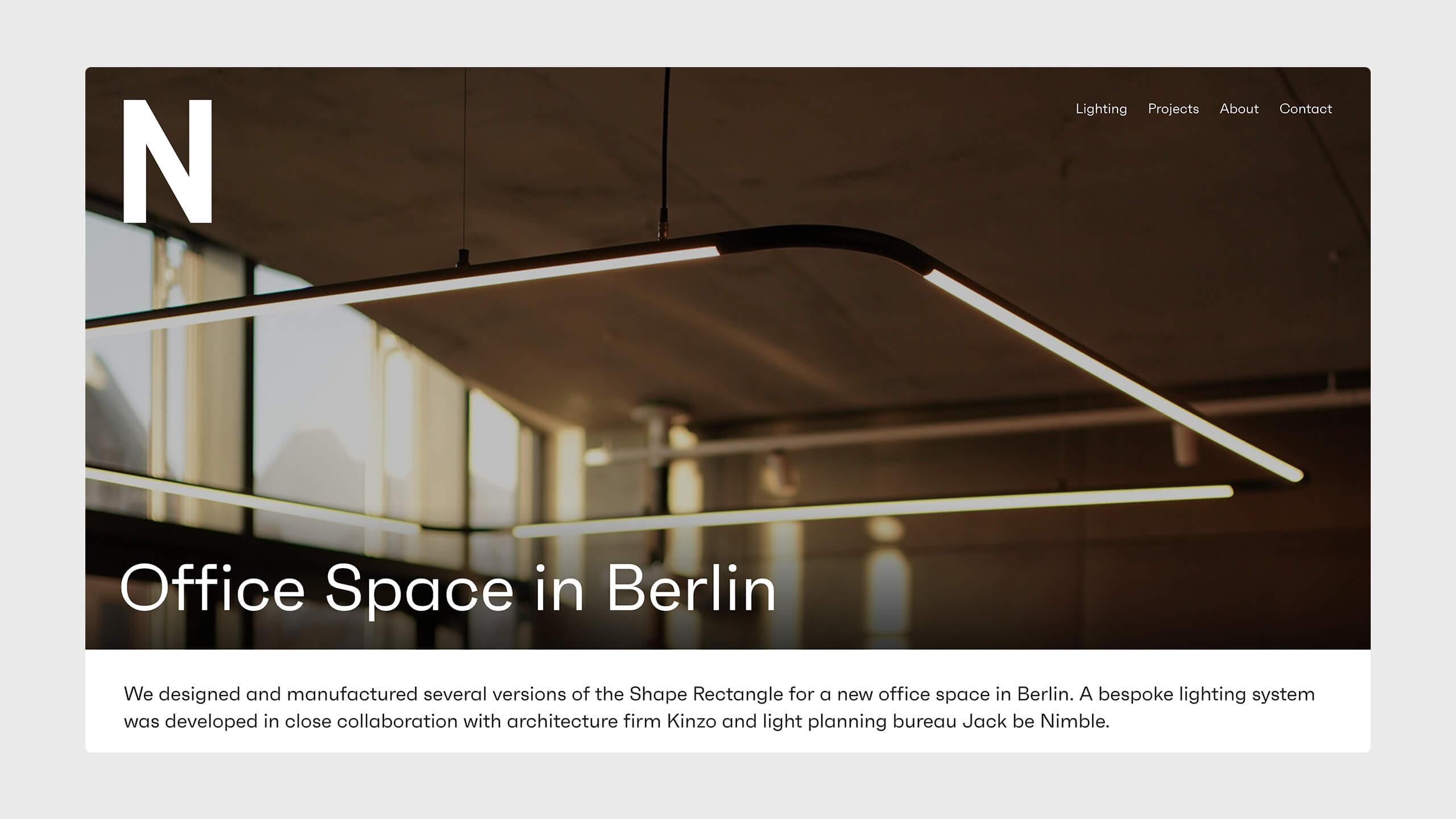 Image of Njebo Website desktop version